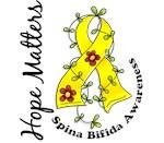 Flower Ribbon 1.3 Spina Bifida Merchandise