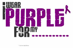 I Wear Purple 6 Pancreatic Cancer Tee-Shirts