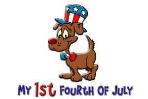Patriotic Dog (1st Fourth of July)