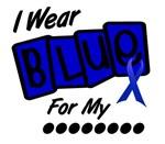 I Wear Blue 8 Colon Cancer T-Shirts & Apparel