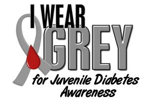 I Wear Grey 10 (Juvenile Diabetes)