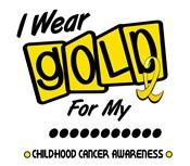 I Wear Gold Ribbon Childhood Cancer Shirts & Gifts
