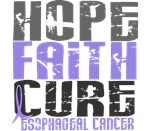 HOPE FAITH CURE Esophageal Cancer T-Shirts