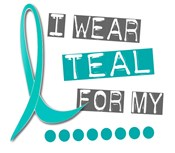I Wear Teal 37 Ovarian Cancer T-Shirts & Gifts