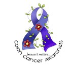 Flower Ribbon COLON CANCER T-Shirts & Gifts