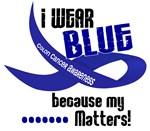 I Wear Blue 33 Colon Cancer Shirts & Apparel