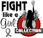 Brain Cancer Fight Like A Girl T-Shirts and Gifts