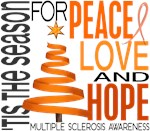 Christmas 1 Multiple Sclerosis Cards Ornaments Gif