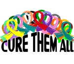 Cure Them All Awareness Ribbon T-Shirts