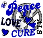 Peace Love Cure 2 ALS Shirts Gifts