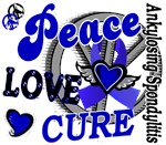 Peace Love Cure 2 AS Shirts Gifts