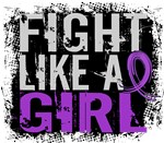 Licensed Fight Like a Girl 31.8 Epilepsy Shirts