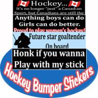 Hockey_Crazee Bumper Stickers