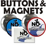 No Child Left Behind! Buttons & Magnets