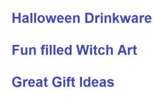 Halloween Witch Drink Ware