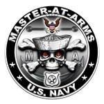 USN Master-At-Arms Skull MA