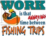 Work vs Fishing Trips