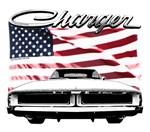 1969 Dodge Charger US flag