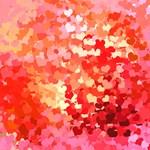 Pink Gold Confetti Hearts
