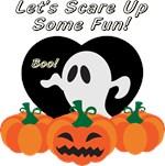 Halloween Ghost and Pumpkins
