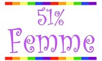51% Femme Lesbian T-Shirts & Gifts