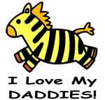 I Love My Daddies (Zebra) Baby Wear & Gifts