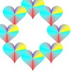 Circle of Rainbow Hearts