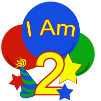 Primary Colors I am two birthday shirt and mor