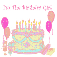 I'm the birthday girl cake & confetti shirts and m