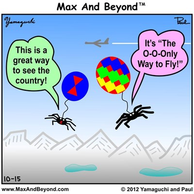 Cartoon: Ballooning Spiders