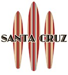 Santa Cruz with Three Surfboards Row