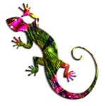 Green & Purple Fractal Gecko