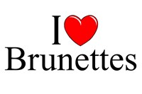 I Love (Heart) Brunettes