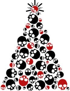 Gothic Skull Christmas Tree