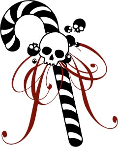 Skull Candy Cane