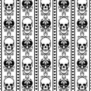 Baroque Skull Stripe Pattern