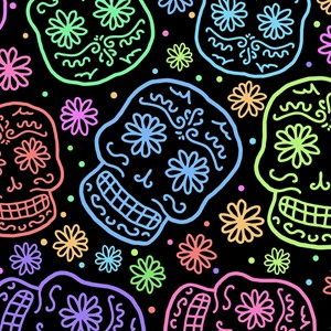 Colorful Sugar Skull Pattern