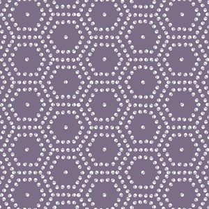 Purple Skull Hexagon Pattern