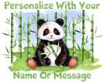 Personalized Panda And Bamboo