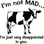 Cow: Not mad, just disappointed in you