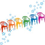 Rainbow Patio Chairs T-shirts & Gifts