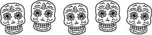 Row Of Sugar Skulls