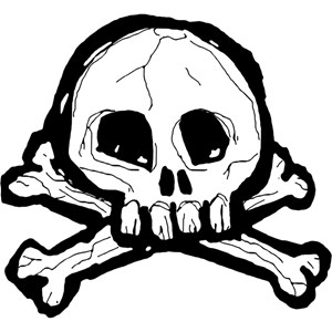 Scribbly Skull And Crossbones