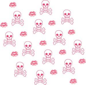 Pink Kisses And Skulls