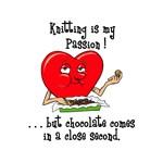 Knitting and Chocolate