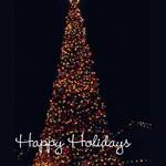 Happy Holidays - Lit Christmas Tree