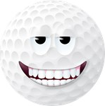 Golf Ball 2 Smiley Face