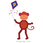 Monkey with Kite