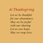 A Thanksgiving Poem