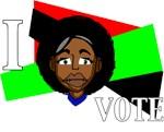 I vote (Red, Black & Green)